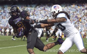 Justin Hardy had a field day against UNC in 2013. Back-to-back anyone?