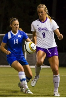 Rising senior Kendall Frey will help keep the Pirate ladies focused for 2015 in the AAC.