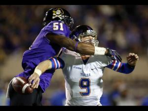 Pirate D will wreak havoc - again - on Tulsa's QB and offense.