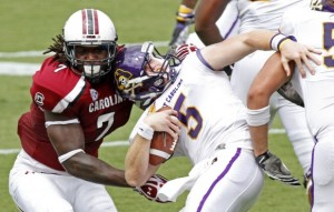 Despite facing the likes of Jadeveon Clowney (who is gone to the NFL), Shane Carden won the starting job that day in 2012.