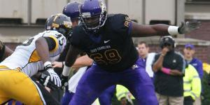 NFL prospect in the mix: Ike Harris has been the stalwart on this edition of the ECU OL.